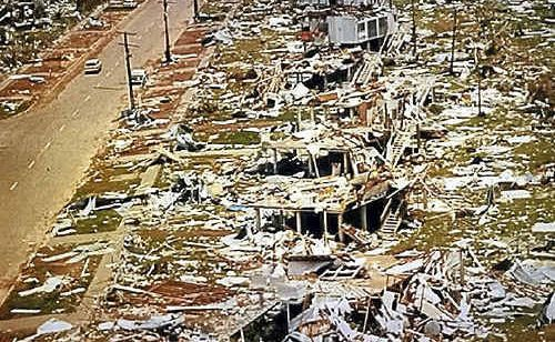 The destruction to Darwin when Cyclone Tracy hit in 1974 was immeasurable.