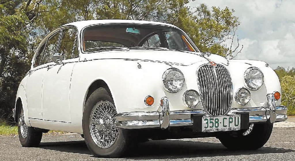 Annette Dadow's 1966 Jaguar MkII still has the original seats and wood panels.