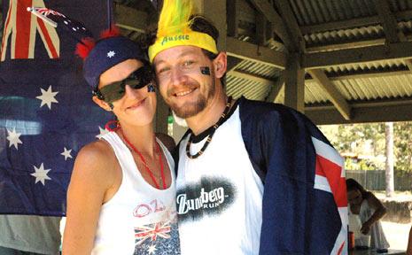 LINDA FLESSER AND Nick Bone show off Aussie spirit at Fernvale.