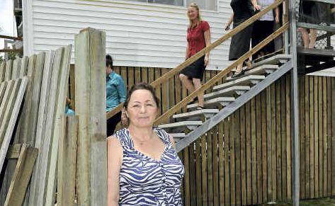 Karen Bailey at the opening of the mental health halfway house in Elliott Heads Road.