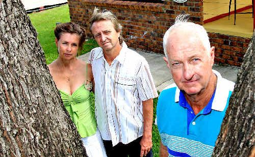 Ken and Anita McGrath and Tyalgum Hall committee member Bruce Bartrim are hoping to form a Neighbourhood Watch group.