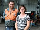 Trevor and Melissa Spoor from Extreme Mining Services were all smiles as their business was unaffected by Cyclone Yasi.