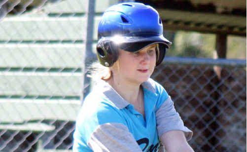 Mikisha Francis makes contact during a Sunshine Coast Softball fixture.