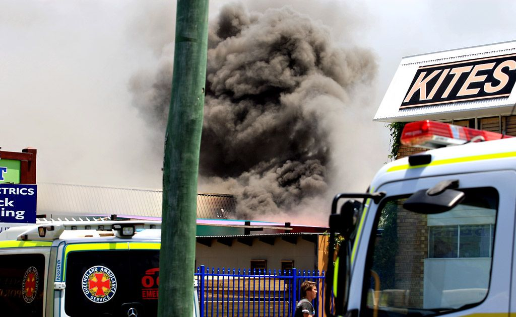 The fire caused significant damage to the Discount Foam and Polystyrene building.