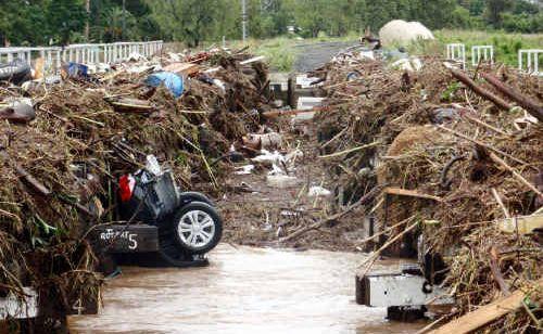 A massive clean-up effort is still underway to clean up the devastation in Grantham.
