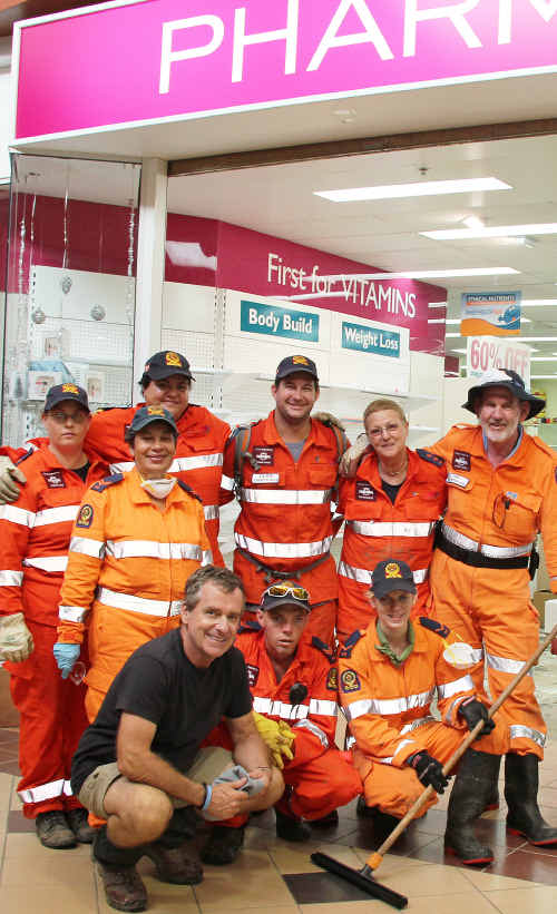 JOB WELL DONE: John Neilson with some of the volunteers who helped clean. cont