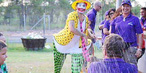 """CLOWNIN' AROUND: Entertainment provided fun for the family at Dysart's flood appeal fundraising event aimed to support the """"forgotten areas"""" of the disaster. cont"""