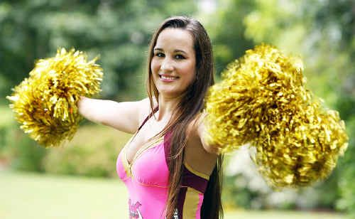 Rosewood resident Kady Ahearn has been cheerleading for the Broncos every year since 2007.