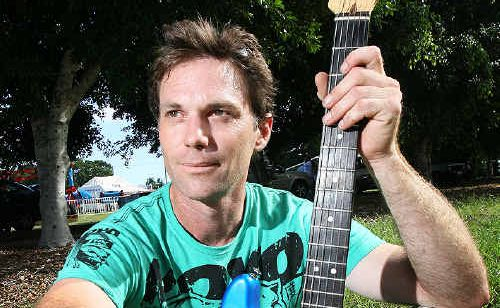 Ipswich band Wasabi guitarist Adam Hartley had his Bundamba home destroyed in the flood but was still willing to give up his time to help others at the Ipswich Flood Benefit.