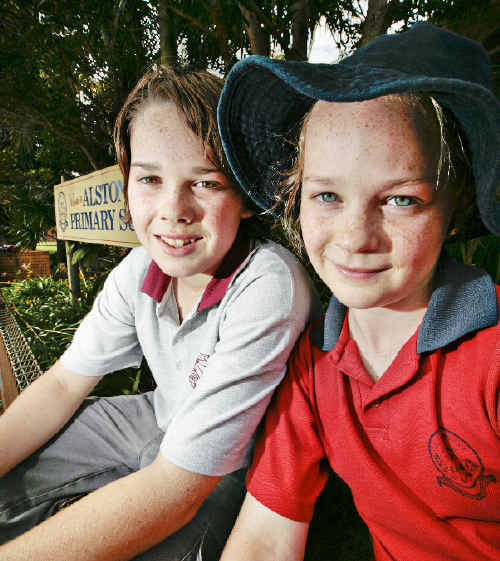 Sam, 13, and Leilani, 9, enjoy attending the Alstonville primary and high schools, and their Meerschaum Vale mum, Trish Rohweder, is happy with the standard of government education.