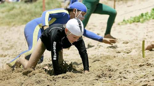 Ewan Heads from Bundaberg - Surf Lifesaving Capricornia Wide Bay junior Championships at Emu Park.