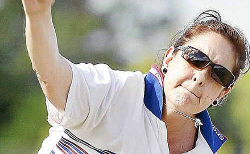 Sports bowler Angie-Lea Spowart was unable to prevent City Slickers winning outright on Saturday.