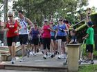 The beginning of the Flood Run at Forest Lake, which raised more than $1000 for the flood relief appeal. Photo: Griffith Thomas / The Satellite IS290111RUN1