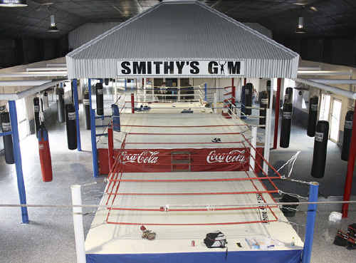 Boxing trainer Brendon Smith opened Smithy's Gym yesterday.