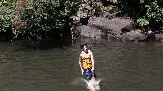 Jumping off a rope at Gardners Fall, Maleny is a popular past time - but not one without danger. FILE IMAGE