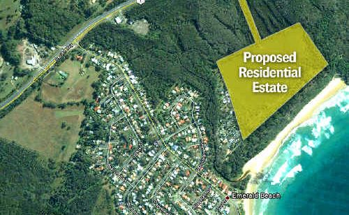 The site of a proposed coastal housing development is a cause of concern for Greens.