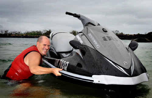 Matt Cook and seven mates will ride jet skis from Kirra to Kuta to raise money for Steve Irwin's Wildlife Warriors and Bring Back Kirra.