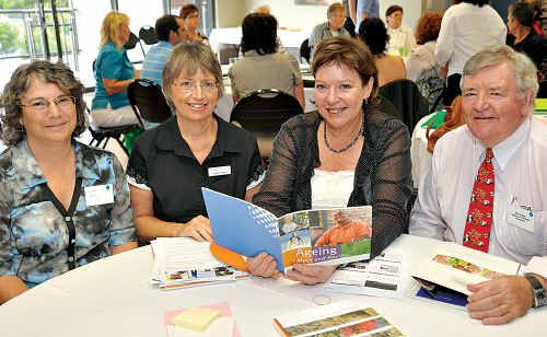At at the Sunshine Coast Positive Ageing Conference are (from left) Dr Claudia Baldwin, Helene Tedford, and Debbie Blumel and Mick Graham.