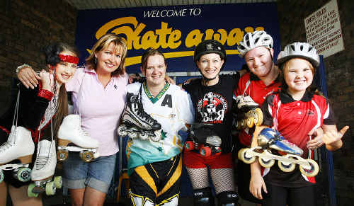 Vivica Buttner and fundraiser organiser Kerri Tomlinson, with Kerryn Hyett, Jenni Gorman, Sharon Hurst and her daughter Courtney, are hoping for a big turnout at tomorrow's fundraiser at Bundamba Skateaway.
