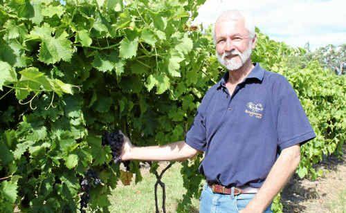 Bungawarra Winery owner Jeff Harden is among seven Granite Belt wineries to donate to the huge flood relief wine raffle.