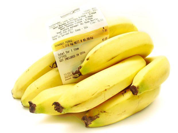 Coles Mooloolaba banana prices climb to $5.98 per kilogram.