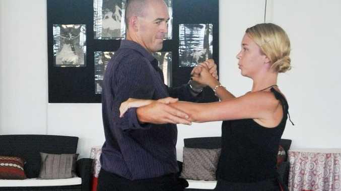 Lorenz Beckett with partner Emma Robb.