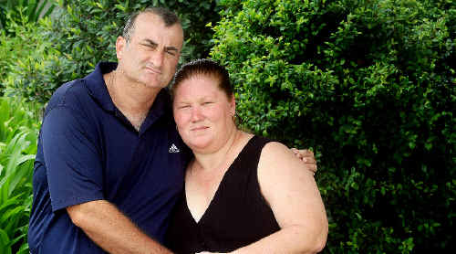 Kylie and Patrick Conaghan waited six hours while hospital staff searched for Mrs Conaghan's medical records.