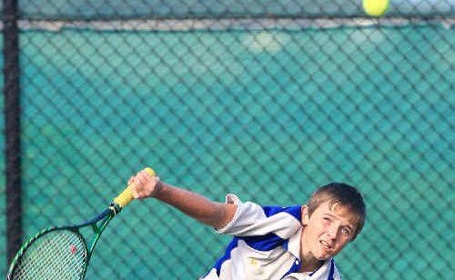 Terranora junior tennis champion Caleb Maxted.