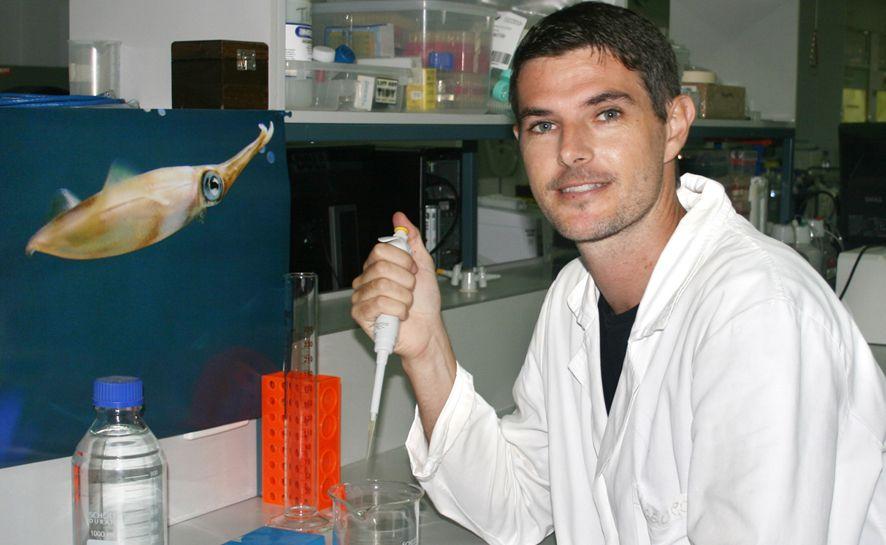 Squid researcher Dr Scott Cummins. Photo: contributed