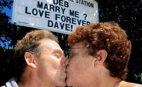 A faint heart never won a fair maid, and Dave Bailey's proposal to Debbie Maynard certainly paid off.
