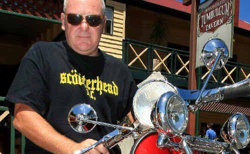 Scooter rider Tony Shirley.