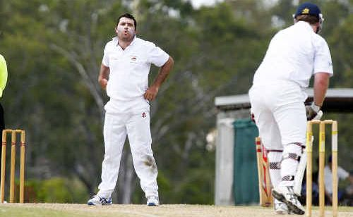 Northsiders skipper Marcus Hillier's reaction shows how close his delivery was to claiming the wicket of Brothers batsman Luke Dixon on Saturday.