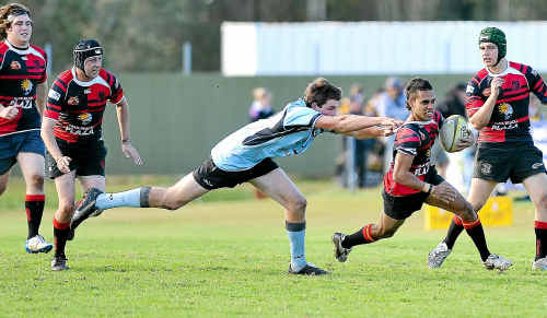 Coffs Rugby Crushers' outside back Karrnunny Pearce impressed playing for the MNC Axemen Colts team on the weekend.