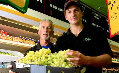 Mike Allen and business manager Brock Lantry are pleased to have their old boss Mike Allen back directing operations at Suncoast Meats and Fruit.