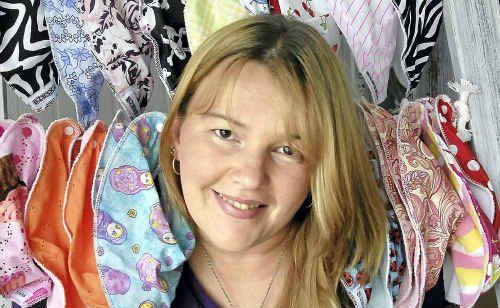 Belinda Long, designer of baby bibs, enjoys the freedom a home-based business provides.