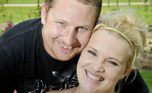 Azriel Withers and Tim Gale chose to spend Valentine's Day together in the romantic rose garden at Newtown Park.