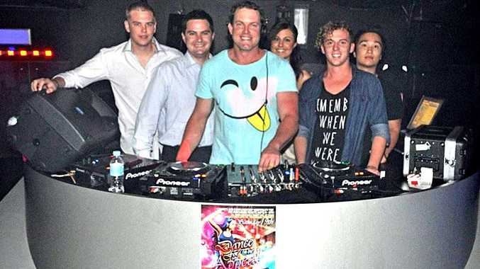 Preparing for Dance for the Appeal this weekend are (from left) Tomba's Niteclub manager Jy Lovett, Chris Blakeley and DJs Lochdown (Tim Loch), Curtzee (Jordann Field), Nick Hill and Ben Quach, who have all donated their time for the event.
