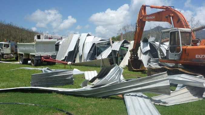 Some of the destruction caused by Cyclone Yasi.