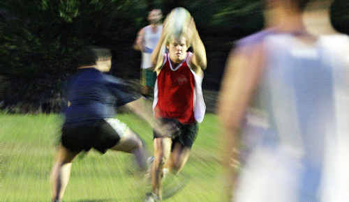Maroochydore Swans Rugby League team in training for the coming season.