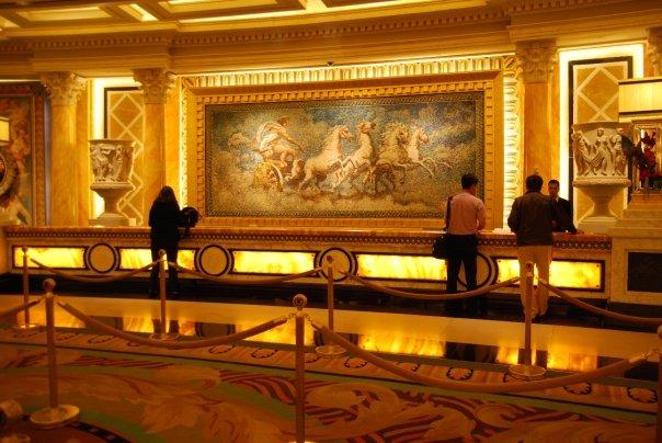 The lobby at Caesars Palace.