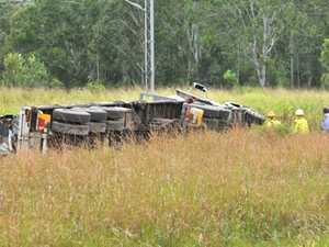 Truck rolls on Port Curtis Way