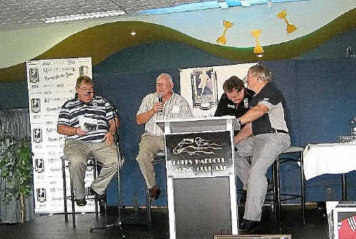 Coffs Harbour Men of League members enjoy a few laughs at the local race day.