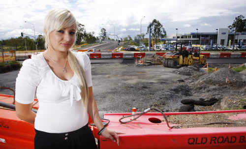 Hairdresser Paula Green of Studio 90210 on the corner of Brisbane and Whitwood roads at Ebbw Vale wants to see the protracted roadworks outside the business completed as soon as possible.