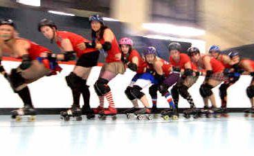 The ENRG Roller Derby team shows off its moves.