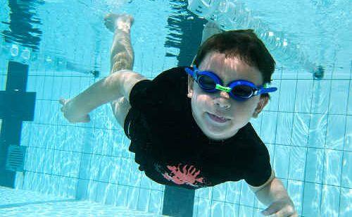Taylor Mancini, 4, loves his swimming lessons at Buderim Aquatic Centre.