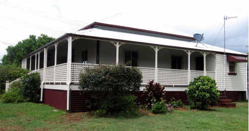 With its high pitched roof and wide veranda, the old Cason homestead survives from a bygone era.