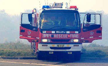 Firefighters attend the Kingscliff blaze.
