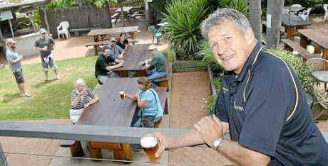 Geoff Murphy of the Meringandan Pub believes that the good old-fashioned beer garden is becoming a thing on the past.