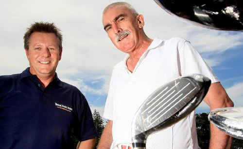 Advertising Manager for the Tweed Daily News Ian Campbell and John Hoye from the rescue service meet ahead of next month's charity golf day.