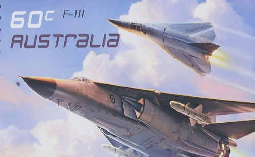A replica of the F-111 commemorative stamp released by Australia Post.